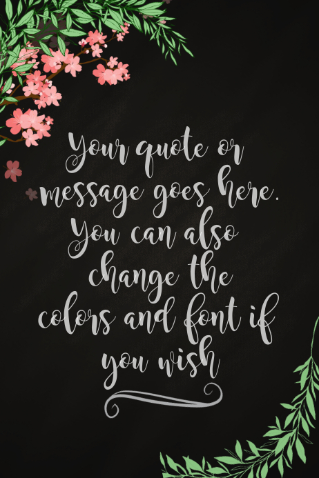 Floral Quote Poster Template