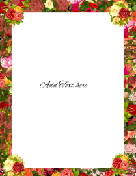 Floral Rose background Pamflet (VSA Brief) template