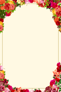 Floral Rose Poster Template