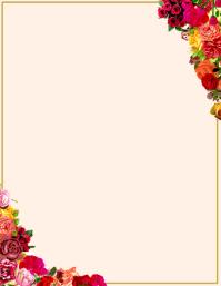 Floral Rose Template Pamflet (VSA Brief)