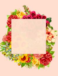 Floral Rose Template Flyer (US-Letter)