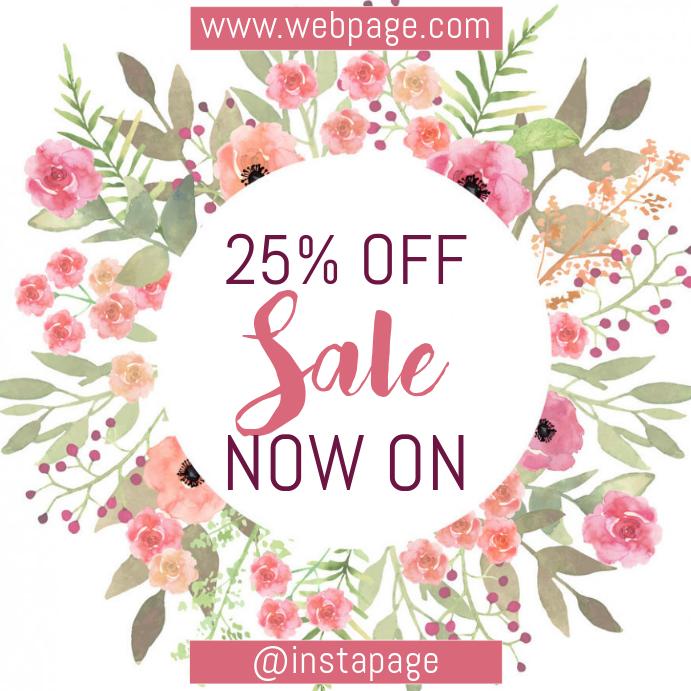 floral sale promotion