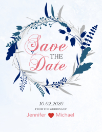 Floral Save The Date Design Template