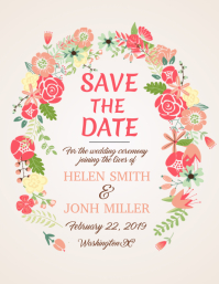 Floral Save the Date Flyer