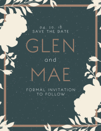 Floral Save The Date Invitation Template