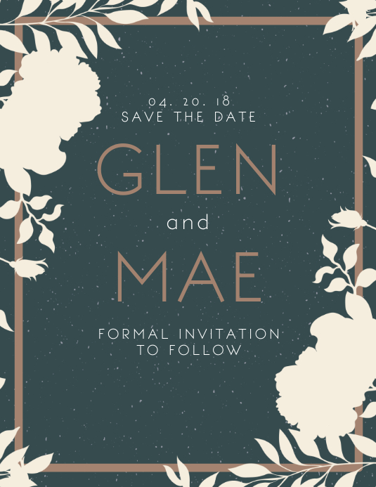 floral save the date invitation template postermywall