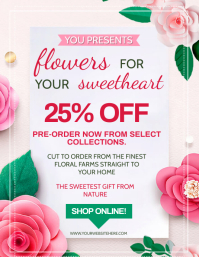FLORAL SHOP DISCOUNT AD Flyer template