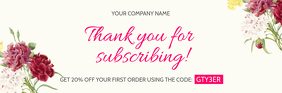 Floral Thank you for Subscribing Email Header