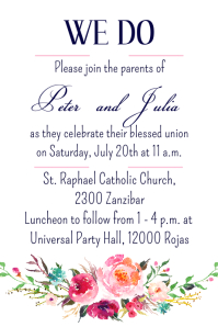 Floral We Do Invitation