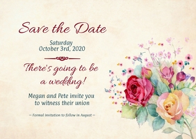Floral Wedding - Save the Date