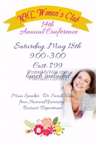 Floral Women's Club Small Business Sales Conference Flyer