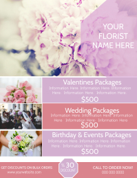 Florist Company Poster Flyer Template