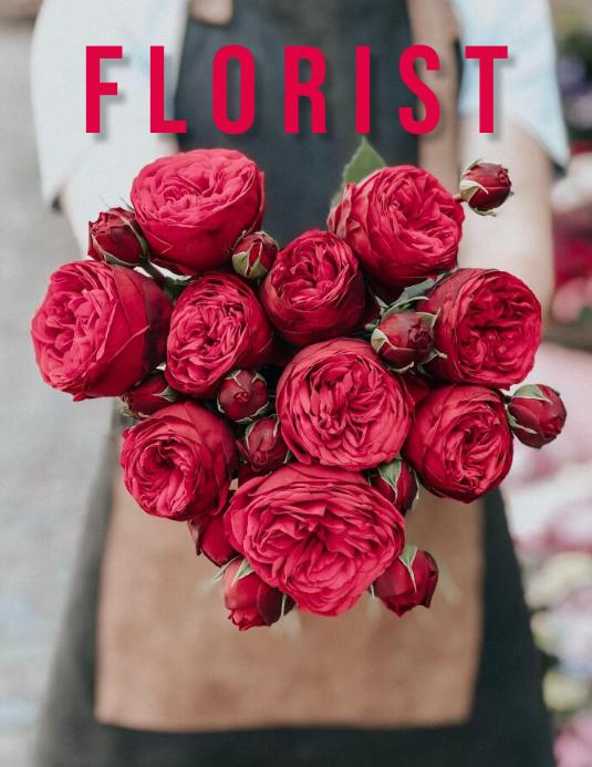 Florist Flyer (Letter pang-US) template