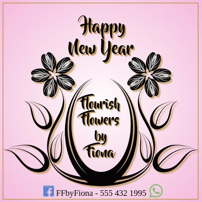 Florist Logo Happy New Year