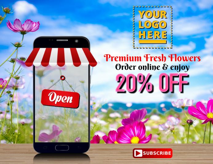 Florist online store 传单(美国信函) template
