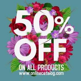 Flower Bouquet Sale Ad Flyer