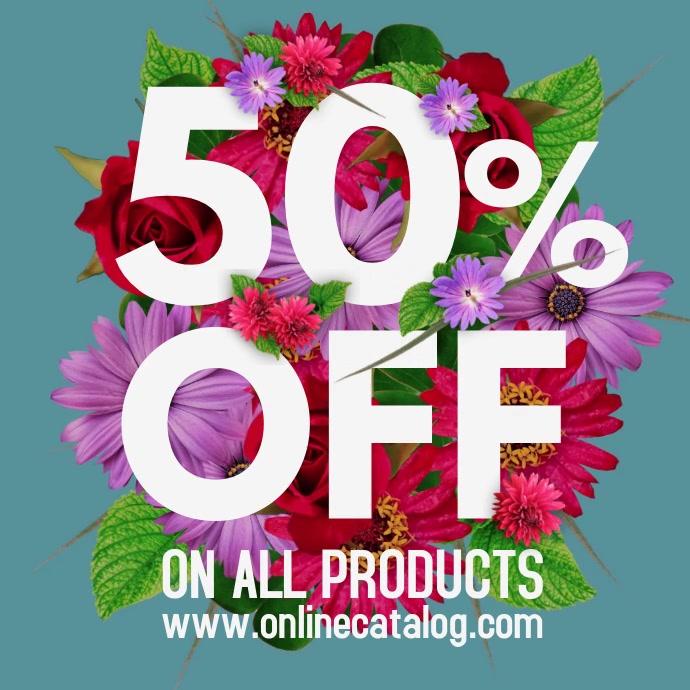 Flower Bouquet Sale Ad Flyer