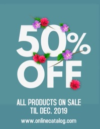 Flower Bouquet Sale Flyer with audio template