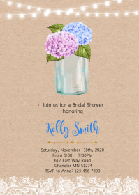 Flower bridal shower party invitation