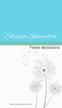 Flower decorations business card