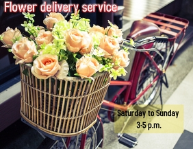 Flower Delivery Service Pamflet (VSA Brief) template