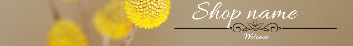 flower Etsy shop banner