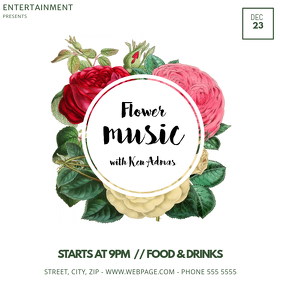 Flower Event Instagram post template