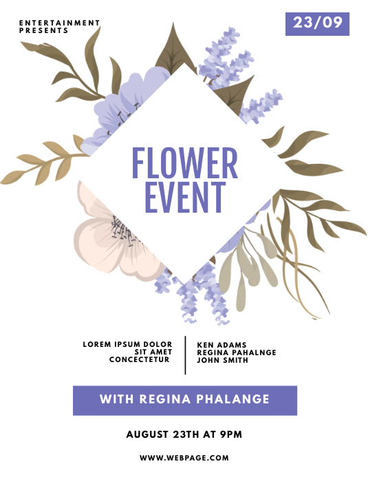 Flower Event Party Flyer Template