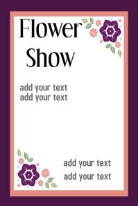 Flower Event Poster Flyer template