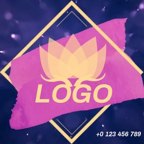 FLOWER LOGO LOGOS SOCIAL MEDIA Instagram na Post template