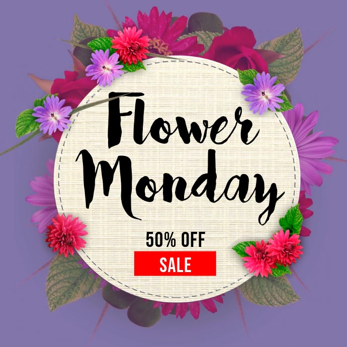 Flower Monday Sale Template