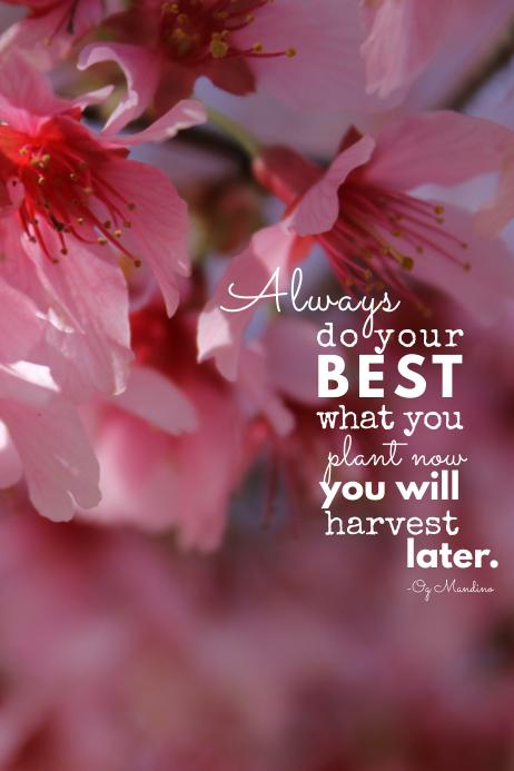 Flower Motivation Poster