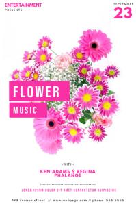 Flower Music Flyer Template