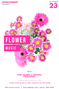 Flower Music Flyer Template