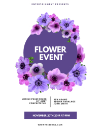 Flower Party Event Flyer Design Template