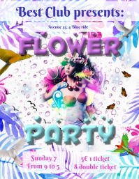 Flower party template
