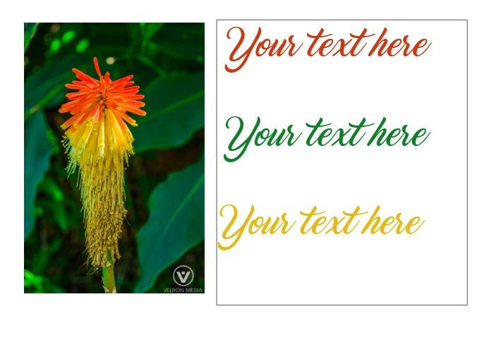 Flower postcard Postal template