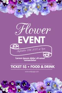 Flower purple event flyer template