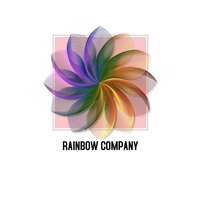 flower/Rainbow logo design template Logotipo