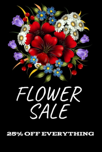 Flower sale flyer template