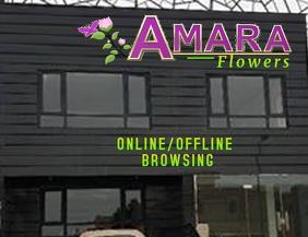 Flower Shop Banner Volante (Carta US) template