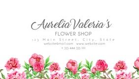 flower shop business card template