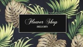 Flower Shop Tarjeta de Presentación template