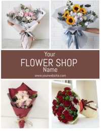 Flower Shop Flyer Template Folheto (US Letter)