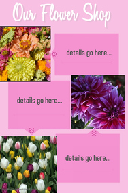 Flower Shop Sales Template Small Business Poster Retail
