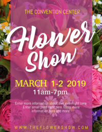 FLOWER SHOW Volante (Carta US) template