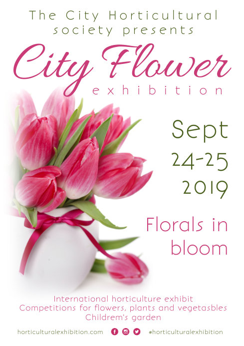 Flower Show Poster A4 template