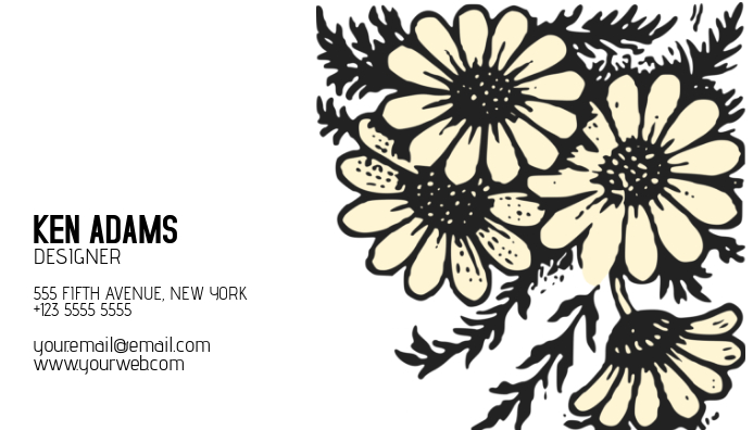 flower soft business card template