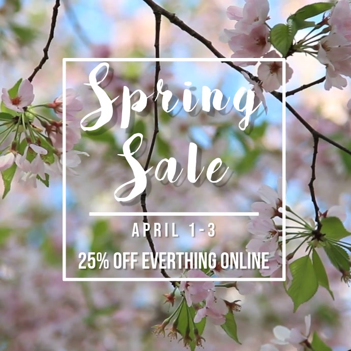 Flower Spring Sale Video