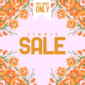 flower summer sale instagram post template